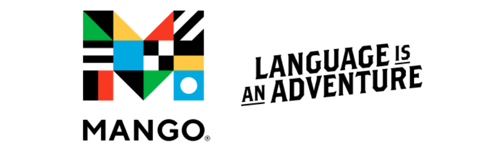 """Mango Languages logo with text stating """"Language is an Adventure"""""""