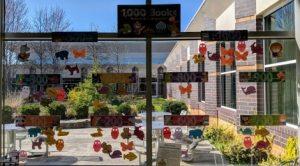 1000 Book Window at Warren Arthur Miller Library