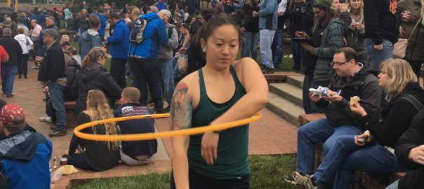 Amazing hula hoop demonstration
