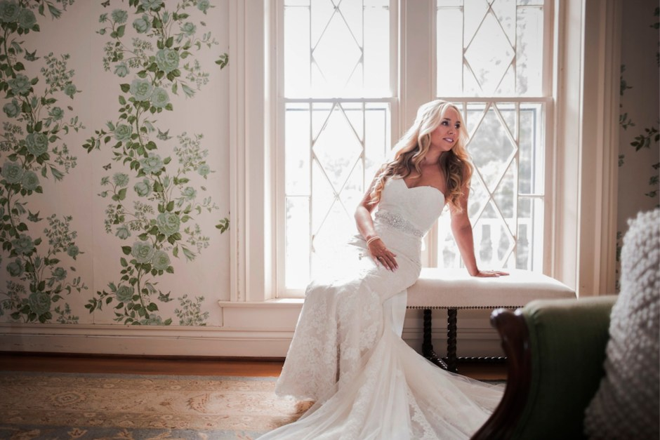 Bride in Warrenwood Bridal Suite