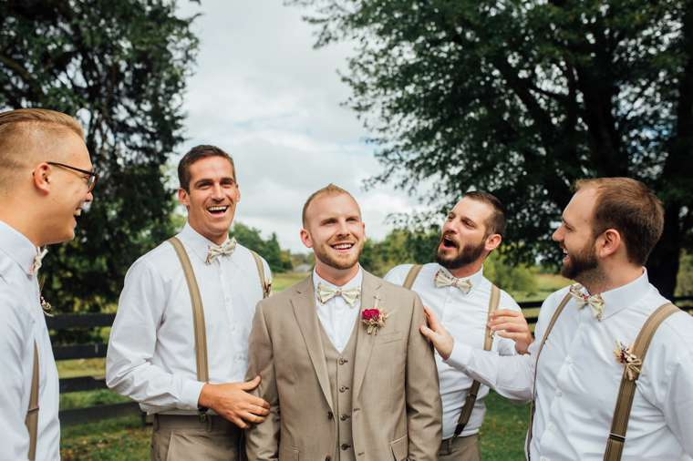 groom and groomsmen in a Casual Southern look