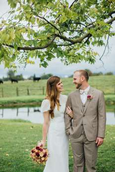 vintage rustic fall farm wedding