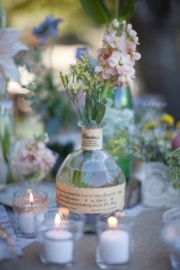 Bourbon Bottle Centerpiece