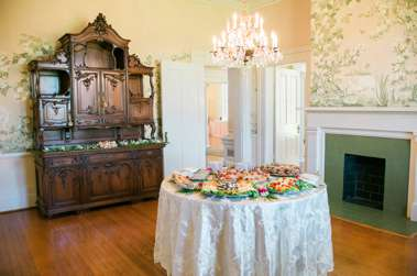 Reception food display in the Warrenwood dining room