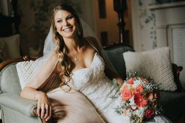 Bridal portrait at Warrenwood Manor, a central Kentucky wedding venue