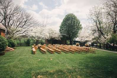 Warrenwood back yard wedding ceremony