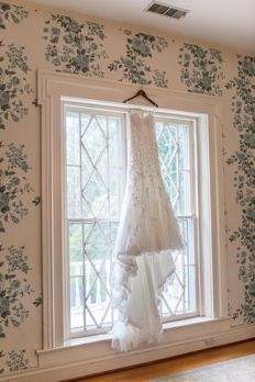 Strapeless sweetheart cut wedding dress with long train