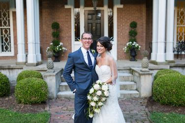 Southern wedding at historic Warrenwood Manor