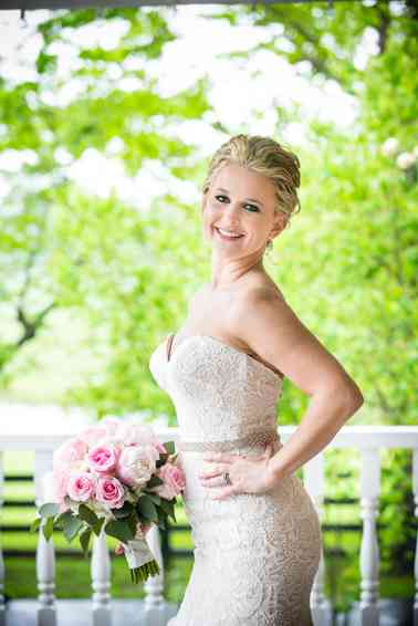 Pink peony bridal bouquet by Stems LLC, Photo by Hilly Photography