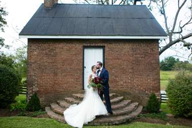 Wedding portrait from beautiful fall estate wedding