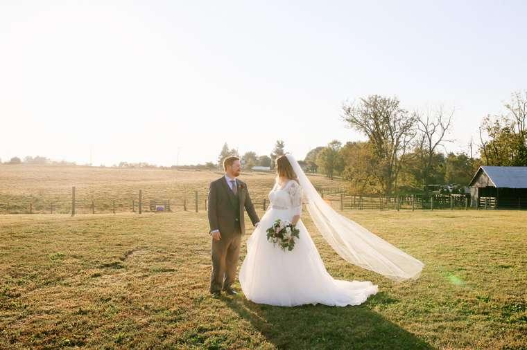 Rustic Elegant Fall Farm Wedding at Warrenwood Manor