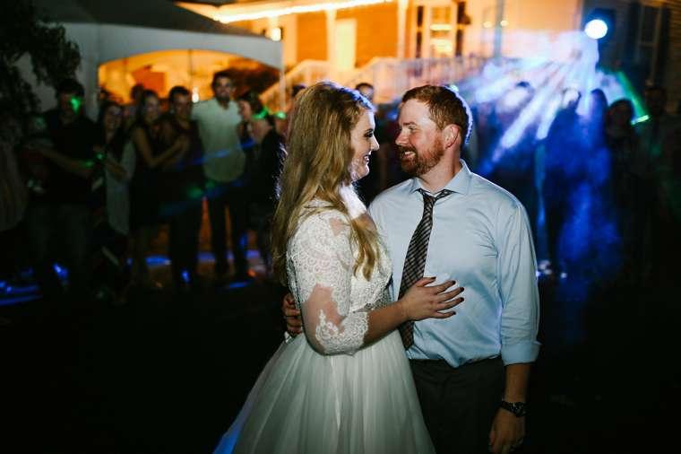 Wedding reception send off at Warrenwood Manor