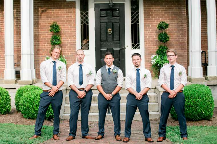 Navy, gray and white groomsmen outfits