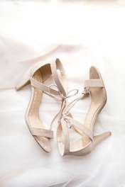Bridal shoes, strappy heels