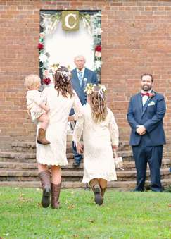 Flower girls with southern charm