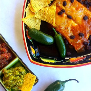 Black Bean Enchilada Plated