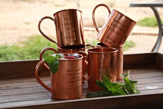 100% Copper Mug Engraved | warriorinthekitchen.com