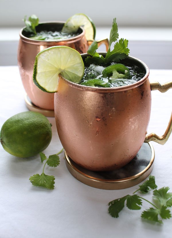 Spicy Cilantro Moscow Mule