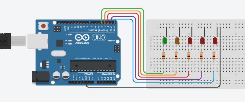 Membuat Lampu LED Berjalan Menggunakan Arduino UNO