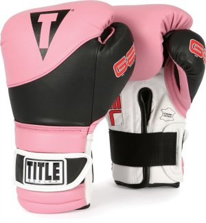 TITLE Gel Boxing Gloves Black Pink