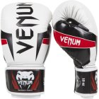 Venum Elite Boxing Gloves White-Black-Red
