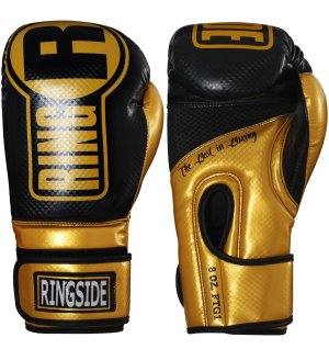 Ringside Boxing Gloves - black and gold