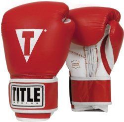 Title Pro Style Training Gloves Red White