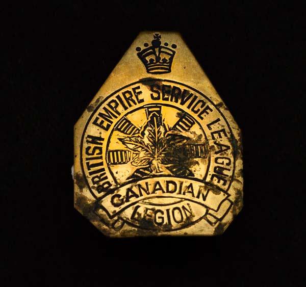 Legion pin, circa 1920s.