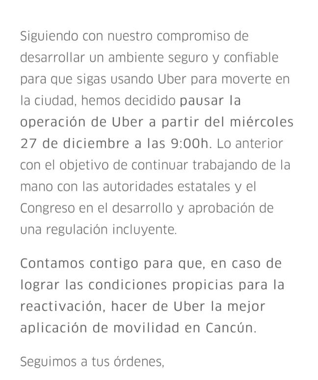 uber.cancún