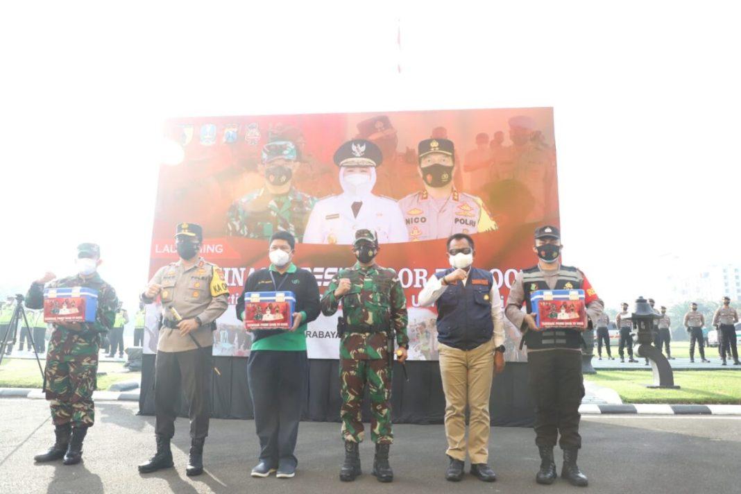 Plh. Sekdaprov Jatim, Kapolda dan Pangdam Launching Vaksinasi Presisi Door to Door