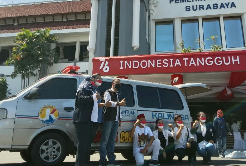 Pemkot Surabaya Terima Bantuan Ambulans dari Kalingga