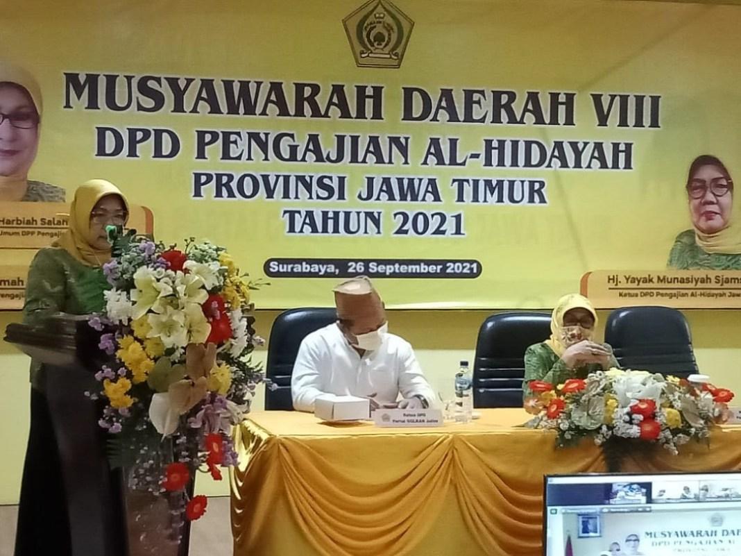 Terpilih Aklamasi, Hj. Esa Wahyu Endarti Ketua DPD Pengajian Al-Hidayah Jatim 2020-2025