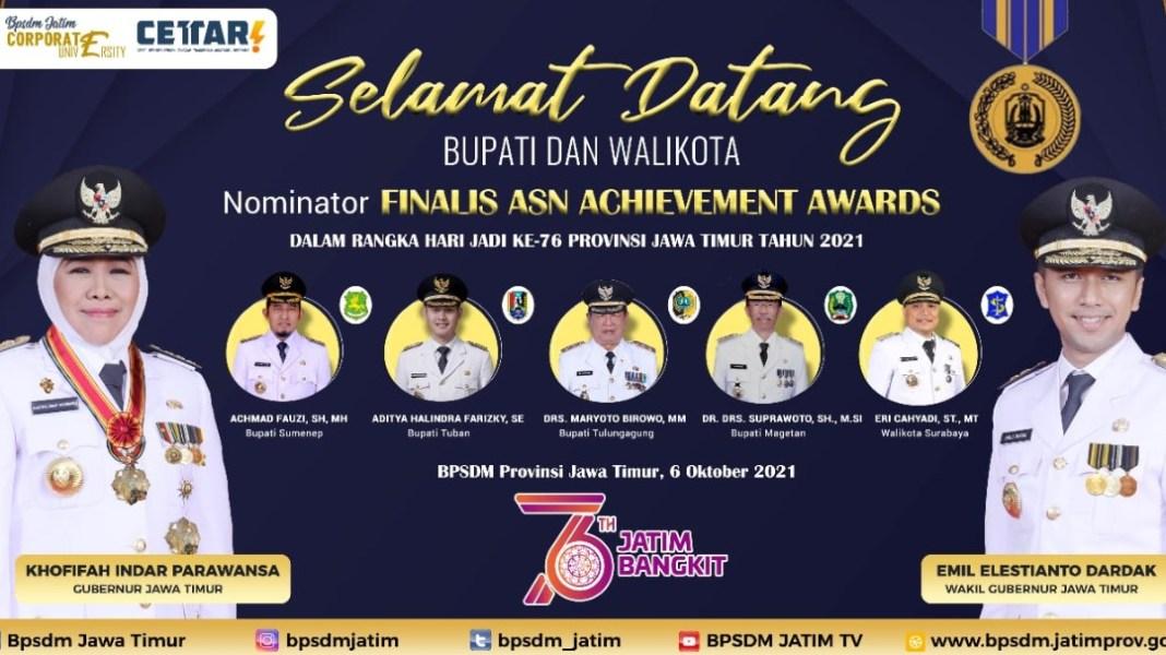 Bupati Tuban Nominator ASN Achievement Awards 2021