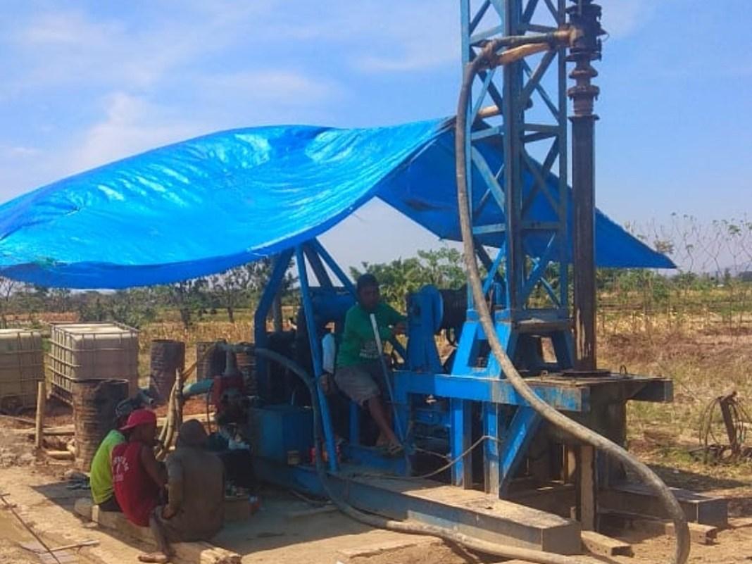 Penuhi Kecukupan Air Petani Bidang SDA Dinas PUPR Magetan Bangun Sumur Pompa Dalam