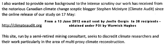 Essential Work At Climateaudit Org Not Appreciated By Some Errors