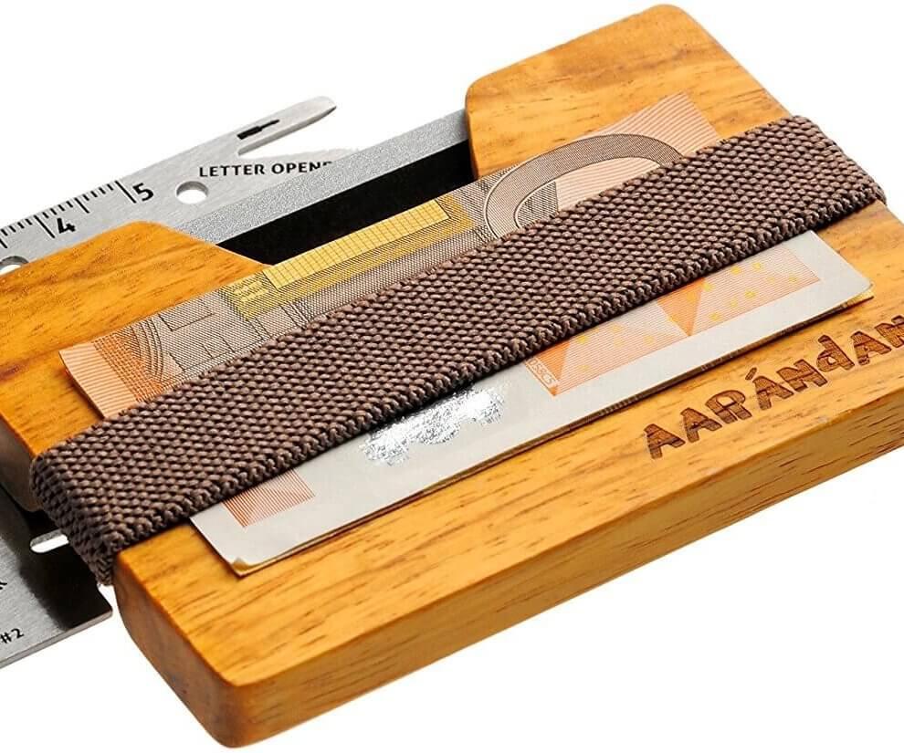 Holz Portemonnaie