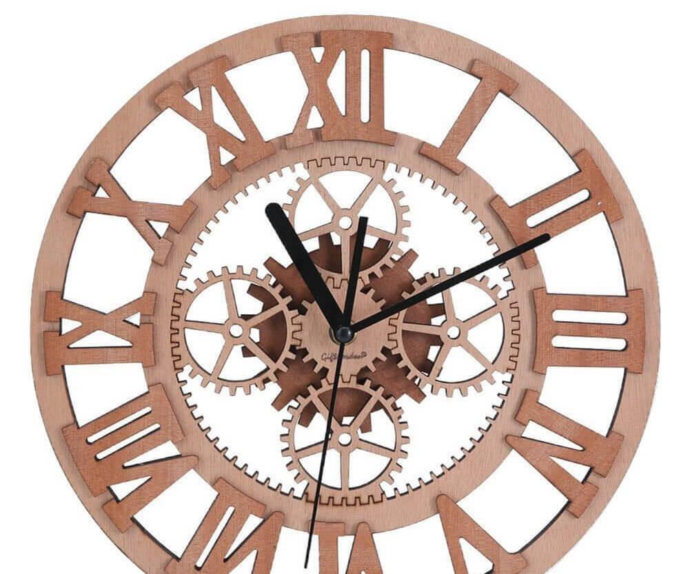 Holz Wand-Uhr