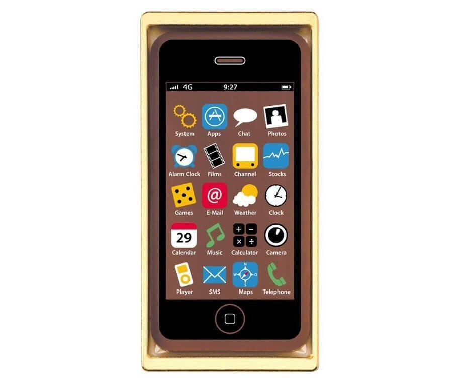 Schoko Smartphone Handy aus Schokolade