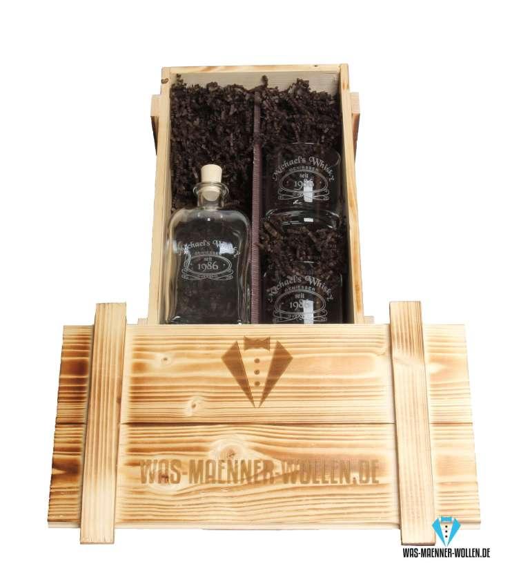 Whisky-Set personalisierte Geschenke für Männer Karaffe und Gläser 3