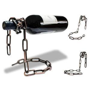 Ketten Flaschenhalter Kettenweinflaschenhalter Schnapsflaschenhalter aus Metallkette 2