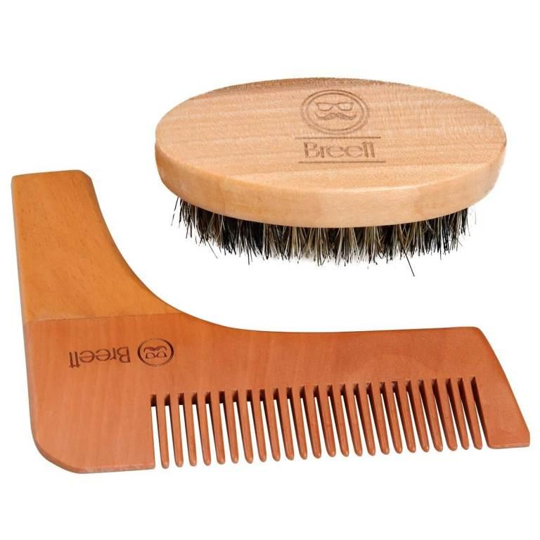 Bart-Set Beste Bart-Schablone, Bartkamm und Bartbürste kaufen 1