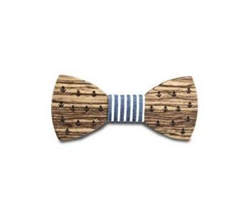 Fliege aus Holz bzw. maritime Holzfliege