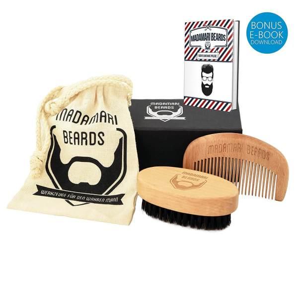 Die besten Geschenke für Bartträger Geschenkset aus Bartbürste und Bartkamm 3
