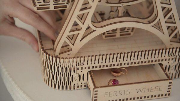 Holzbausatz - besten Holzmodell kaufen - Bausatz aus Holz - Geschenkidee und Männerspielzeug - Riesenrad aus Holz 3