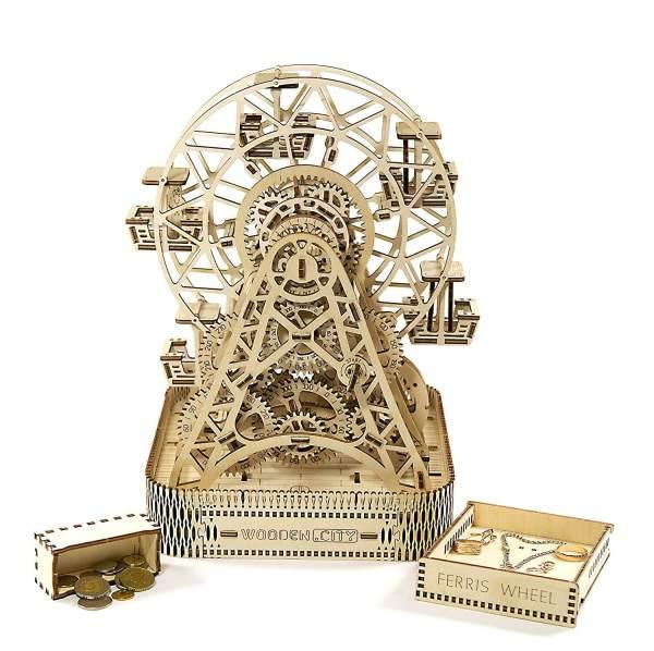 Holzbausatz - besten Holzmodell kaufen - Bausatz aus Holz - Geschenkidee und Männerspielzeug - Riesenrad aus Holz