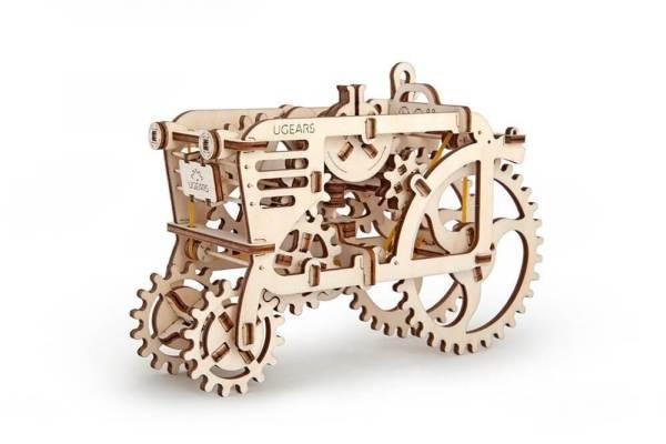 Holzbausatz - besten Holzmodell kaufen - Bausatz aus Holz - Geschenkidee und Männerspielzeug - Traktor aus Holz