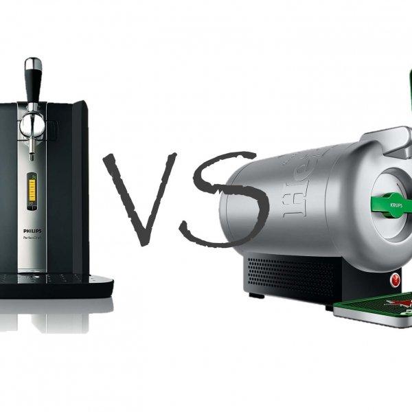 Bier Zapfanlagen Krups The SUb vs Philips Perfect Draft