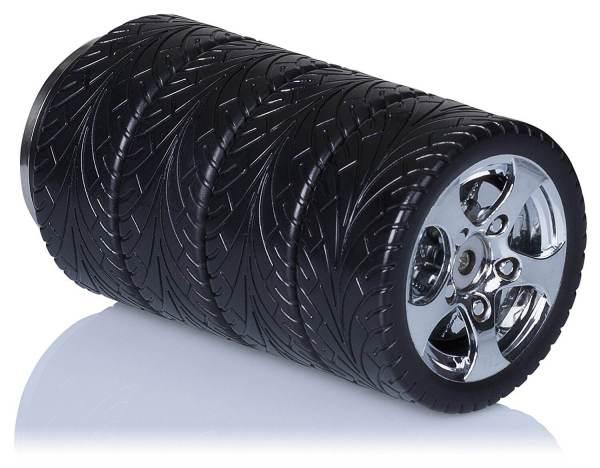 Thermoskanne im Reifen-Design Reifendesign Isolierkanne im Formel-1 Look gestapelte Reifen 4