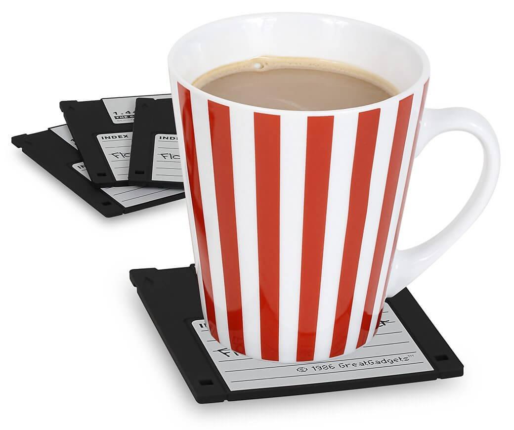 Nerd Geschenke - Die besten Gadgets für Geeks - 3,5 Zoll Floppy Disc Diskette Untersetzer
