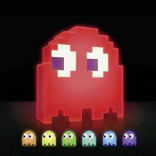 Nerd Geschenke - Die besten Gadgets für Geeks - Pac Man Lampe - Dekoration im Retro Design - Gaming Licht - 90's